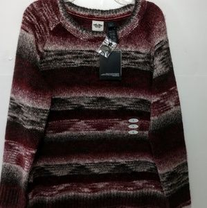Harley-Davidson nwt men sweater L marble knit red
